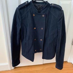 BCBG Maxazria military wool jacket